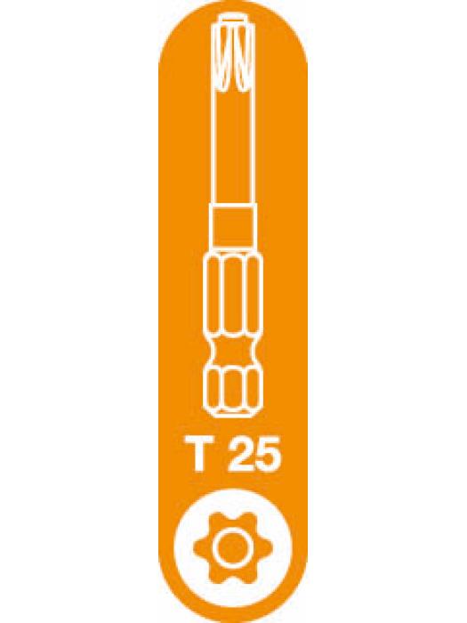 T-25 Spax T-Star Plus Drive bit. 50mm. Pack of 5.