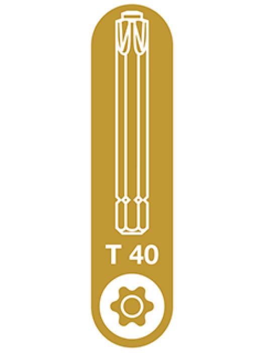 T-40 Spax T-Star Plus Drive bit. 50mm. Pack of 5.
